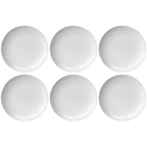 Imagem de Jogo 6 Pratos Raso 2ª Linha Coup Porcelana Branca Germer