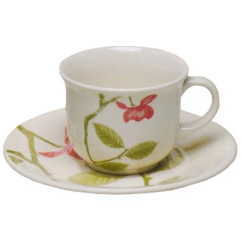 Imagem de Jogo 6 Xícara De Chá Com Pires 200ml Beauty Em Cerâmica 1481 Biona