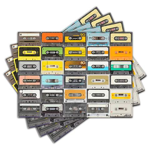 Imagem de Jogo Americano - Fitas Cassete com 4 peças - 007Jo