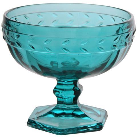 Imagem de Jogo com 4 Taças Lyor Roma para Sobremesa Sorvete 370ml Turquesa