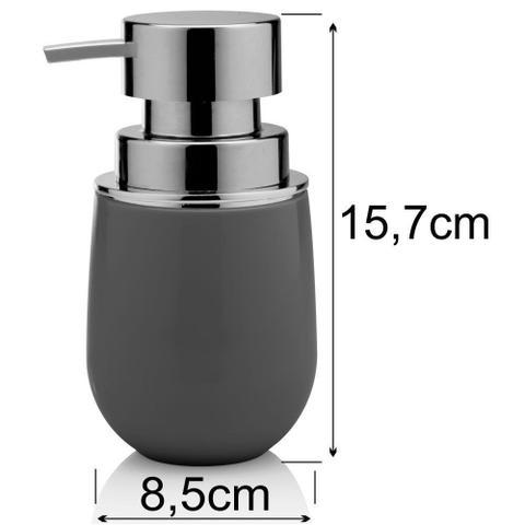 Imagem de Jogo Completo Para Banheiro Toalete Com 6 Peças - Chumbo