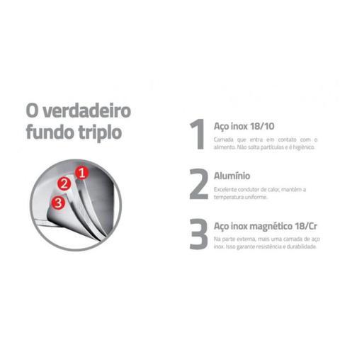 Imagem de Jogo cozi-pasta aço inox 24 cm 2 peças -DUO COLOR - Tramontina