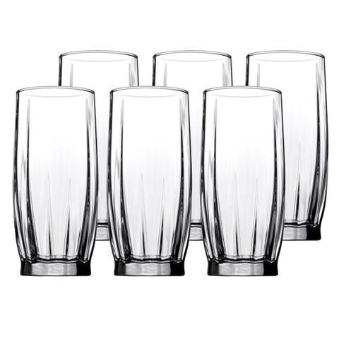 Imagem de Jogo de 6 copos Dance em vidro 320ml A14,5cm transparente
