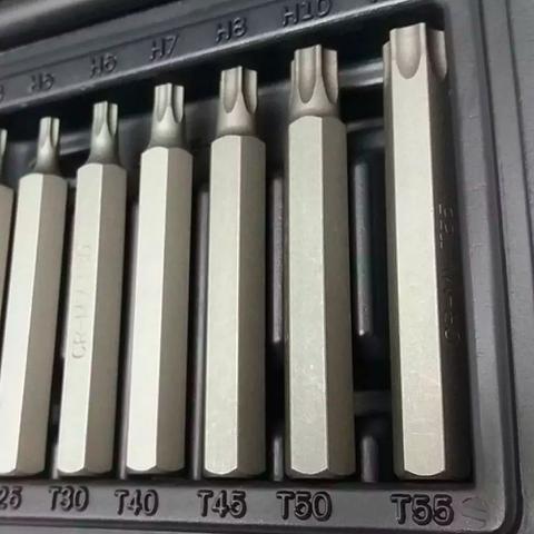 Imagem de Jogo de Bits Torx T20 a T55 Aço CR-V 15 Peças com Maleta - STELS-11315