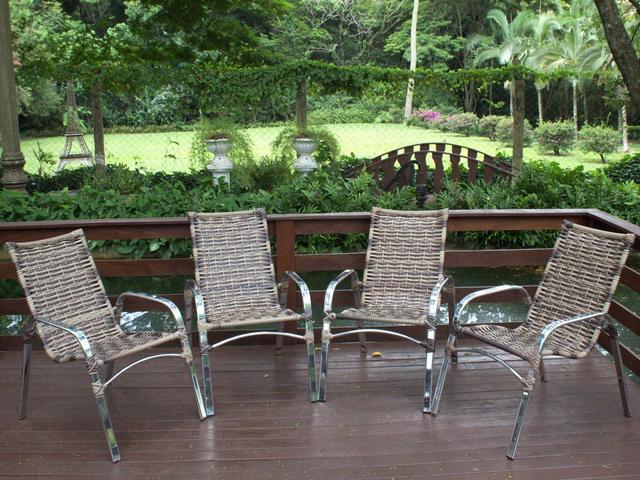 Imagem de Jogo De Cadeira Em Alumínio Para Varanda Piscina Decoração