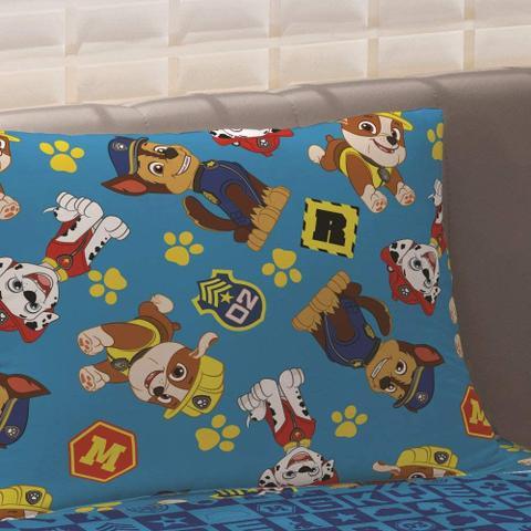 Imagem de Jogo de Cama Infantil 2 peças Microfibra Patrulha Canina Menino