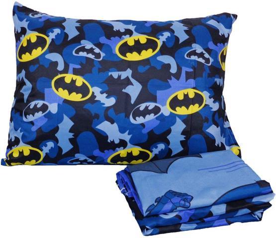 Imagem de Jogo de Cama Infantil 3 peças Microfibra Batman