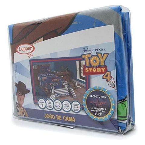 Imagem de Jogo de Cama Toy Story Microfibra Solteiro 3 peças