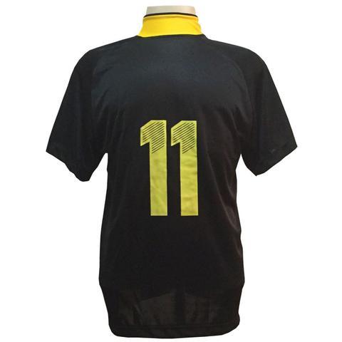 Imagem de Jogo de Camisa com 20 unidades modelo Milan Preto Amarelo + 1  Goleiro 831664b7c6346