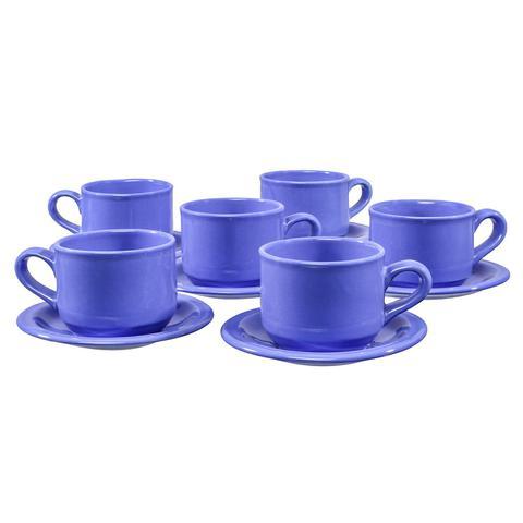 Imagem de Jogo De Chá Com Bule Completo Xícaras Café Chá Com Pires