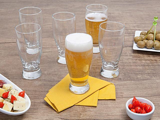 Imagem de Jogo de Copos de Vidro para Cerveja 340ml 6 Peças