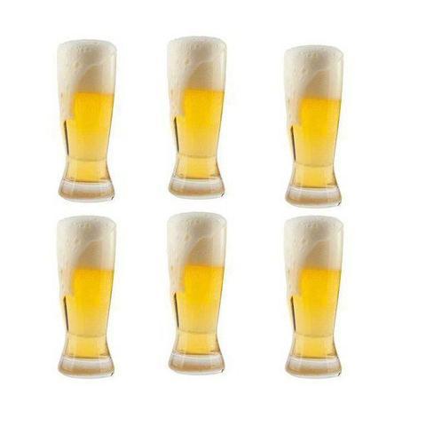 Imagem de Jogo de Copos para Cerveja Catarinense 6 Peças em Cristal Ecologico 210ML Bohemia 58367