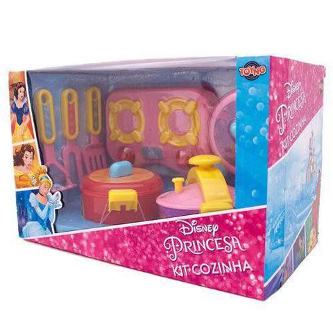 Imagem de Jogo de cozinha fogão e panelas princesas - toyng 32053