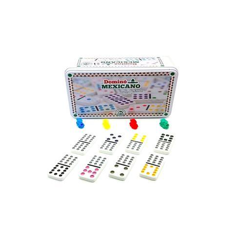 Imagem de Jogo de domino mexicano 91 peça na lata