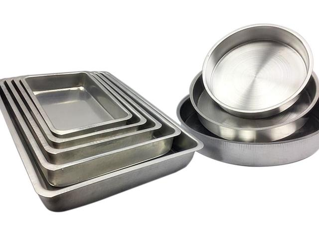 Imagem de Jogo De Forma Assadeira Tabuleiro Bolo Aluminio Alta 8 Peças