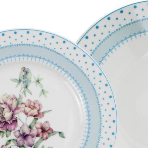 Imagem de Jogo de Jantar 42 Peças Porcelana Fina 910 Class Home