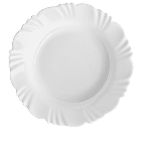 Imagem de Jogo de Jantar Branco Pétalas 12 peças Pratos Rasos e Fundos