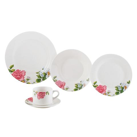 Imagem de Jogo de jantar em porcelana Lyor Rose 20 peças
