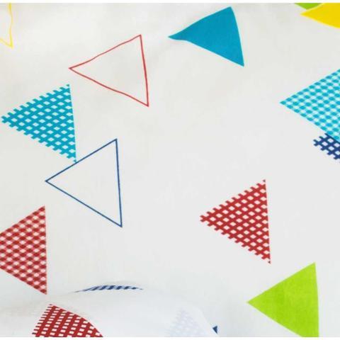 Imagem de Jogo de Lençol Solteiro Marina 02 Peças Tecido Misto - Triângulos