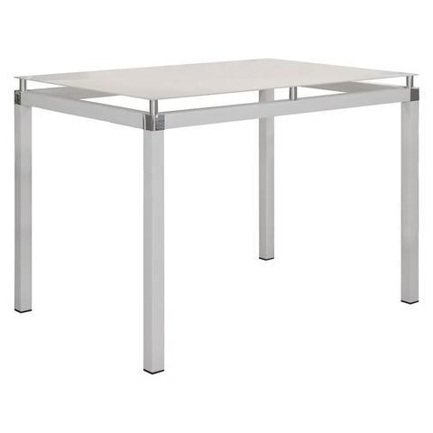 Imagem de Jogo de Mesa Malva 107cm e 4 Cadeiras 119 Branco/Platina - Artefamol