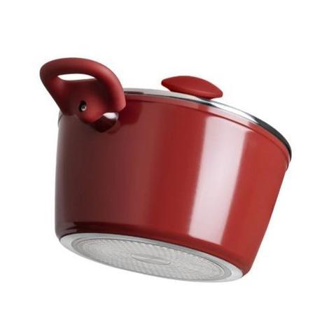 Imagem de Jogo De Panela Antiaderente Ceramic Life Optima Vermelho 5 Peças