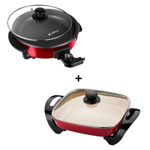 Imagem de Jogo de Panela Elétrica Rouge PAN610 + Ceramic Pro PAN242 - Cadence 220V