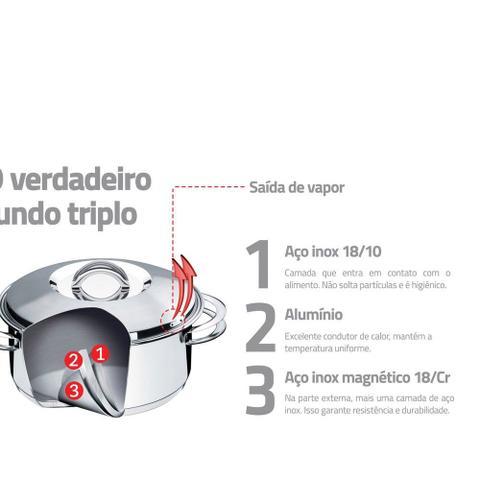 Imagem de Jogo de Panela Inox 3 Peças Solar Tramontina