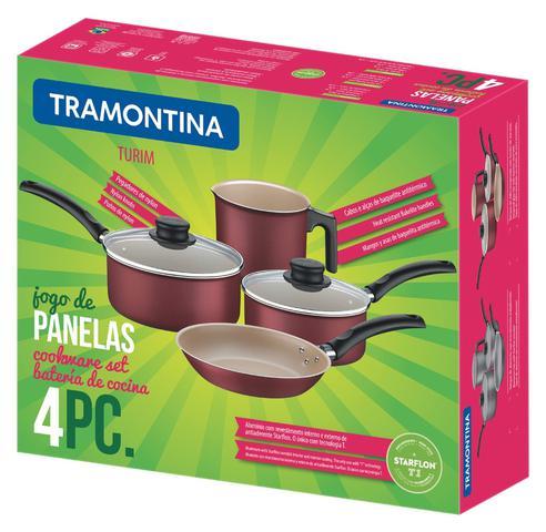 Imagem de Jogo de Panelas 4 Peças Turim Cinza Tramontina 20298/696
