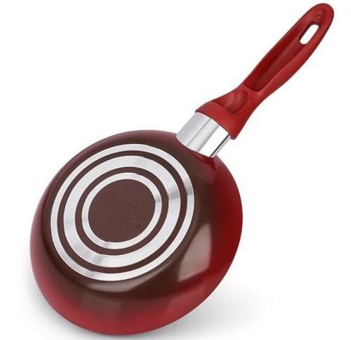 Imagem de Jogo De Panelas 5 Peças Ceramic Life Smart Vermelha Brinox