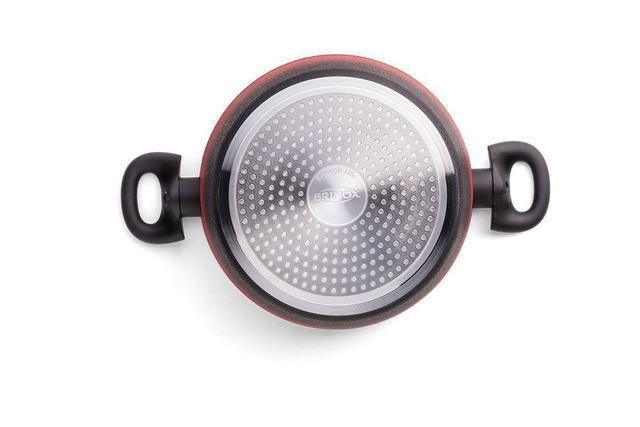 Imagem de Jogo de Panelas 5 Peças Com Fundo De Indução Prime - Vermelha- Brinox