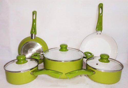 Imagem de Jogo De Panelas 5pcs Cerâmica Verde Fundo Indução Idea