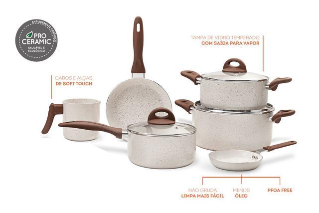 Imagem de Jogo de Panelas 6 Peças Ceramic Life Cookie Brinox