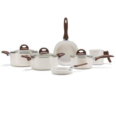 Imagem de Jogo De Panelas 6 Peças Ceramica Ceramic Life Vanilla Brinox