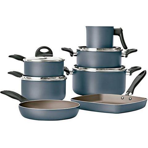 Imagem de Jogo De Panelas 7 Peças Frigideira Grill Antiaderente Brinox Cobalto