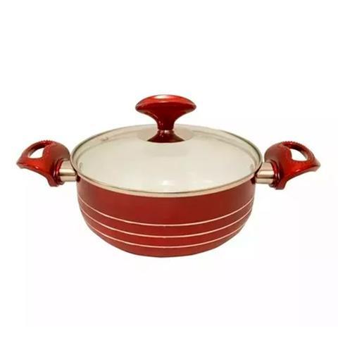 Imagem de Jogo de panelas 7pçs Cerâmica Antiaderente Vermelha