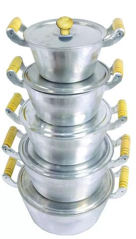 Imagem de Jogo de panelas alumínio fundido tampa leve