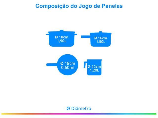 Imagem de Jogo de Panelas Alumínio Oliveira Antiaderente