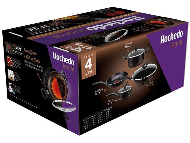 Imagem de Jogo de Panelas Antiaderente 2,4mm Rochedo Inova