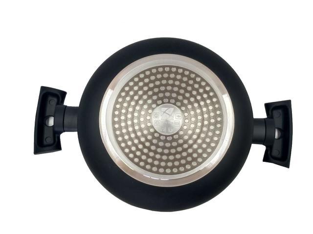 Imagem de jogo de panelas antiaderente cerâmico para fogão de indução Marrom, 5 peças, Soft Touch - Hércules