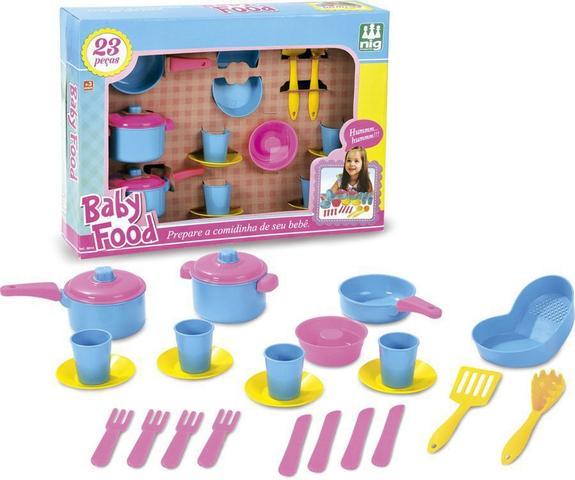 Imagem de Jogo de Panelas Baby Food - Nig Brinquedos