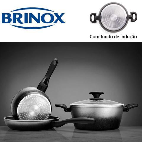 Imagem de Jogo de Panelas Brinox Prime 5Pçs Revestimento Cerâmico com Fundo de Indução Prata - 4725/101