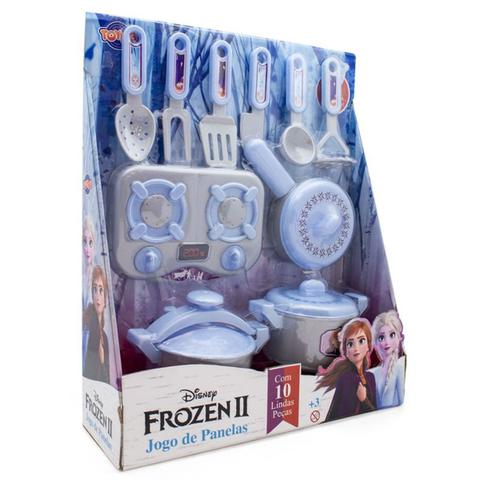 Imagem de Jogo de Panelas Brinquedo 10 Peças Disney Frozen 2 Toyng