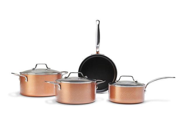 Imagem de Jogo de Panelas com Fundo de Indução 4 Peças Copper Brinox