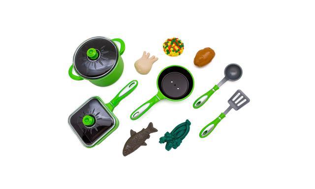 Imagem de Jogo de Panelas e Comidinhas Tá na Mesa 2 Verde Toyng