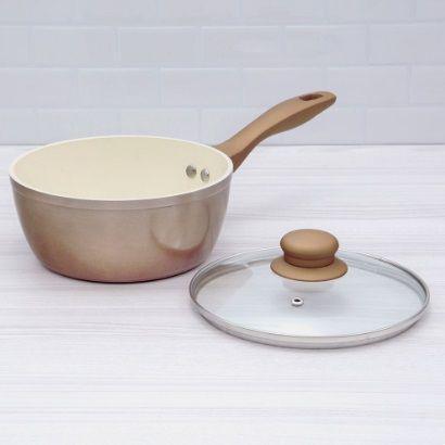 Imagem de Jogo de panelas em aluminio 7 pecas ana maria braga cobre com revestimento ceramico evora com kit de