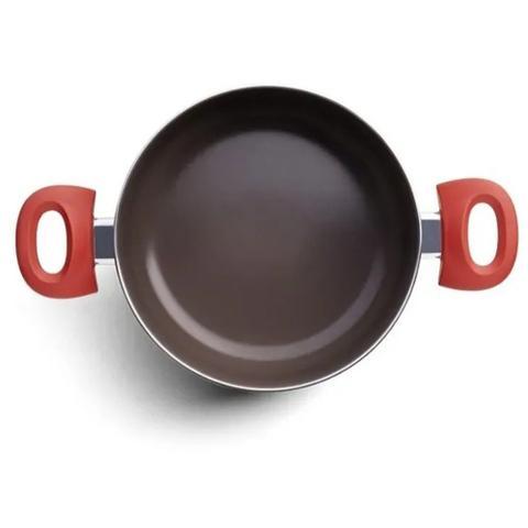 Imagem de Jogo de Panelas Fundo Indução Ceramic Life Carmim 5Pç Brinox