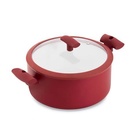 Imagem de Jogo de Panelas Hercules Revestimento Ceramico Indução 5 Peças Antiaderente Vermelho