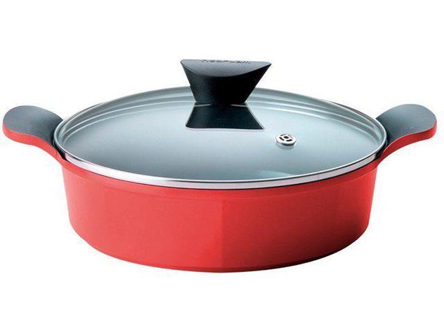 Imagem de Jogo de Panelas Neoflam Revestimento Cerâmico - de Alumínio Vermelho 5 Peças Venn