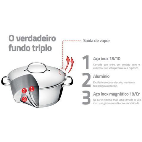 Imagem de Jogo de Panelas para Fogão de Indução Aço Inox 3 Peças