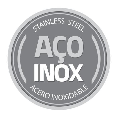 Imagem de Jogo de Panelas Tramontina 5 Peças Allegra em Aço Inox com Fundo Triplo e Tampas de Inox